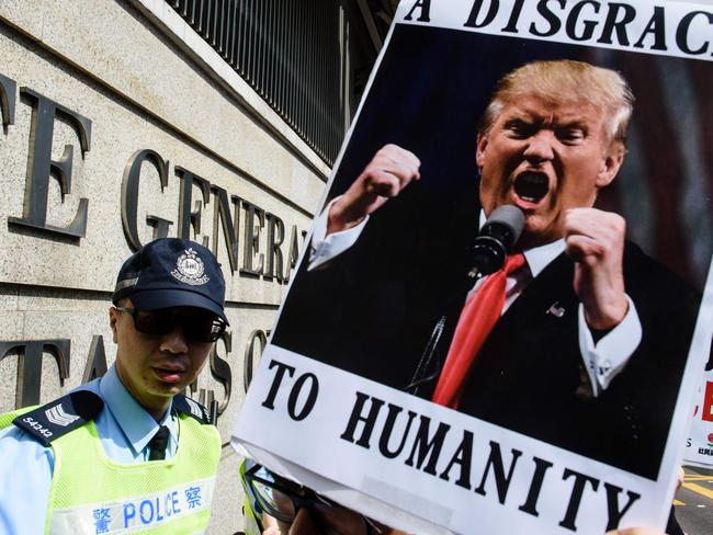 A new poll shows more people agree with Mr Trump's block on refugees and Muslims than oppose it. Picture: Anthony Wallace/AFP
