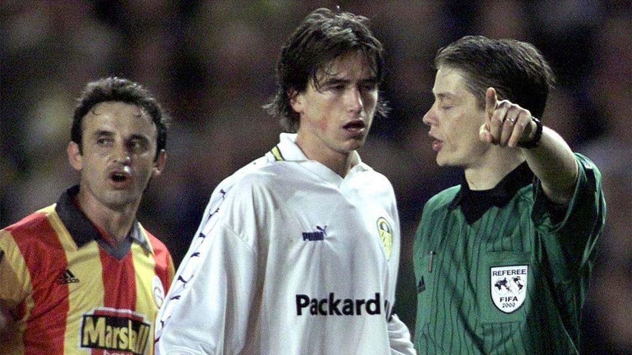 Harry Kewell was sent off in that emotionally-charged second leg.