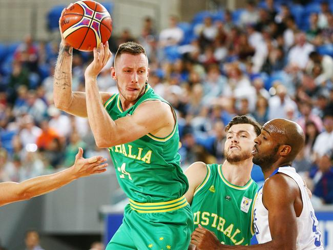 Mitch Creek will be the be the central figure for the Boomers. Picture: Michael Dodge/Getty Images