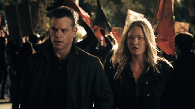 Matt Damon and Stiles in Jason Bourne.