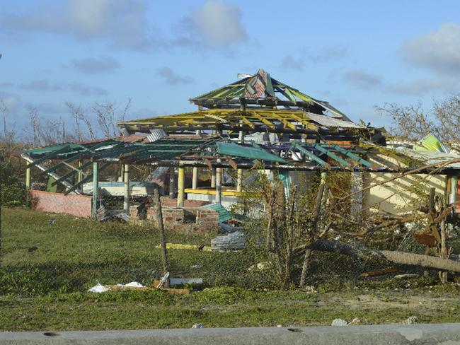 A house is left stripped in Barbuda. Picture: AP Photo/Anika E. Kentish.