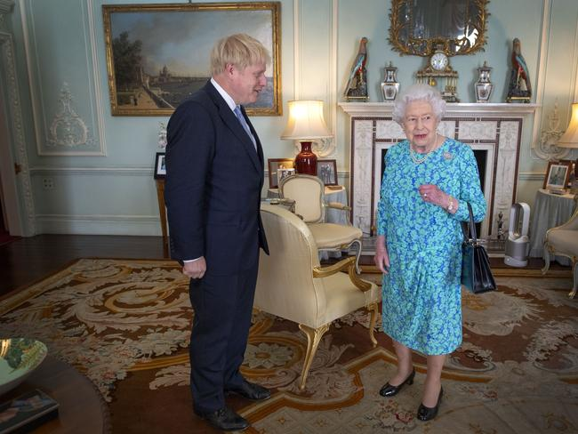 Mr Johnson is the 14th Prime Minister the Queen has asked to form a government. Picture: Victoria Jones — WPA Pool/Getty Images.