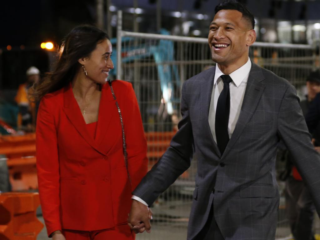 Maria and Israel Folau have endured a tough ride this year.