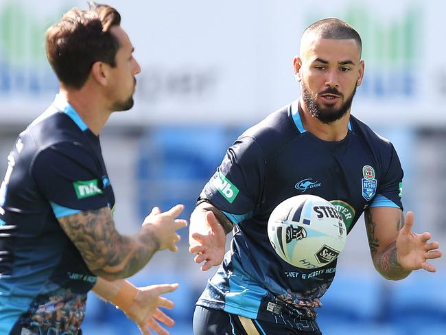 NSW's Nathan Peats (R). Picture: Brett Costello