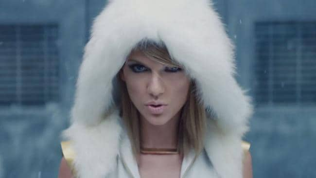 Taylor Swift as Catastrophe. Picture: Vevo