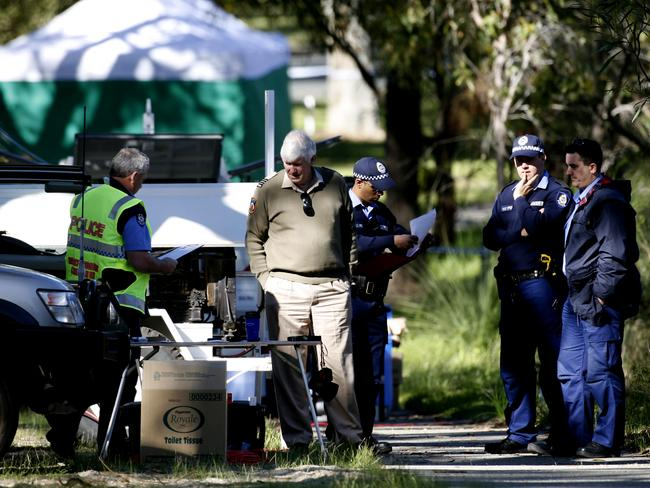 August 2007: Police at Kings Park investigating the murder of Corryn Rayney.