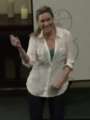 Justine Damond's spontaneous dance during her speech.