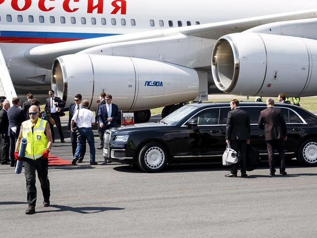 Putin arrived for his summit with US President Donald Trump.