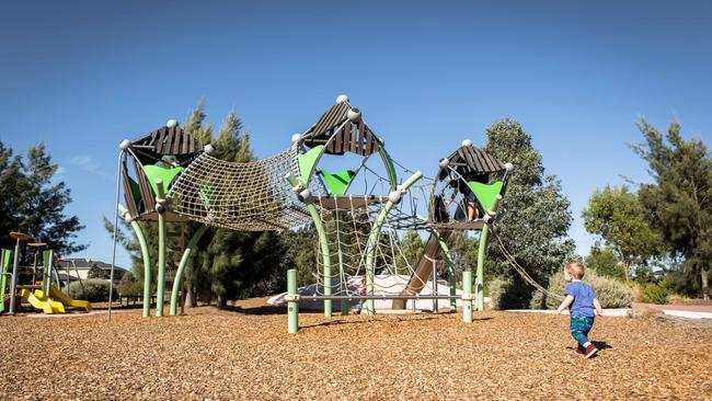Imaginative playgrounds are one of the estate's attractions.