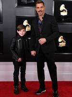 Ricky Martin and his son. Photo: Jon Kopaloff/Getty Images
