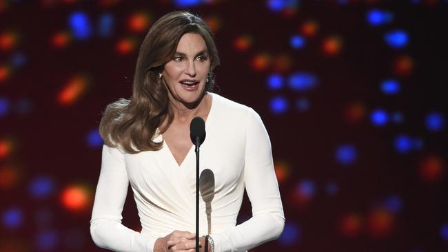 Caitlyn Jenner accepted an award for courage at the ESPY Awards in July 2015.