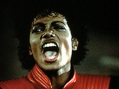 A still from Jackson's iconic Thriller film clip. Picture: Supplied