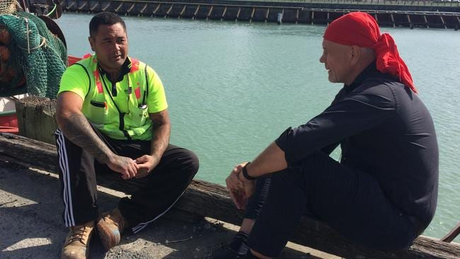 Peter FitzSimons talks to deportee KO Haapu. He fought in the NZ army in Afghanistan against the Taliban, after settling in Perth he joined the Rebels motorcycle gang. Source: ABC