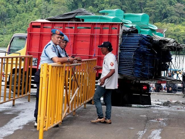 Chairs and tents arrive at Wijaya Pura port for the island as 'the caravan of death begins'. Picture: Lukman S Bintoro.