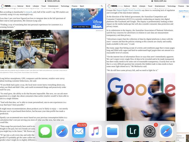 You can do split screen and use two apps at the same time. Or watch a video in the background while you Facetime.
