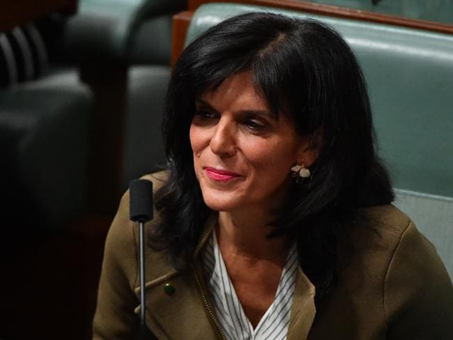 Julia Banks quit in spectacular fashion this week, hitting out at the 'bullying and intimidation' tactics used by Peter Dutton's camp. Picture: AAP
