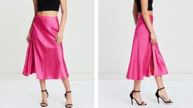 The Iconic Siena Satin Skirt. Image: www.theiconic.com.au