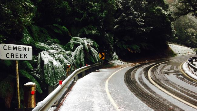 Freezing weekend ... Snow is forecast to fall in some Melbourne suburbs on Sunday and Monday.