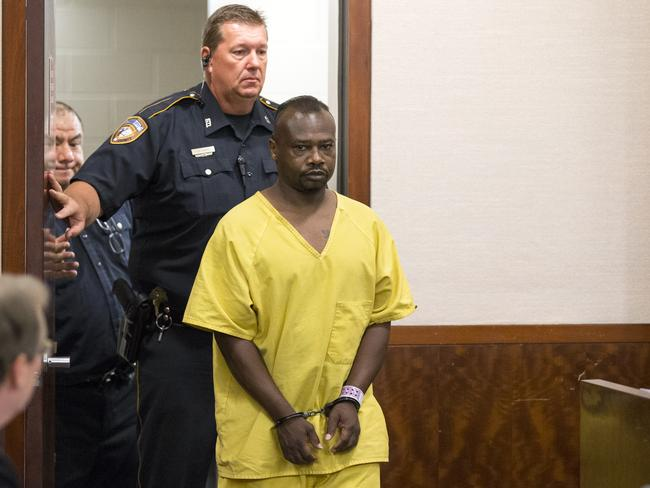 David Conley, who has a violent criminal history, faces the death penalty after shooting dead his ex-lover Valerie Jackson, her husband Duane Jackson Snr and six children, including his own son. Picture: AP /David J. Phillip