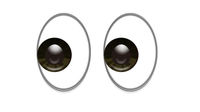 Side eye emoji.