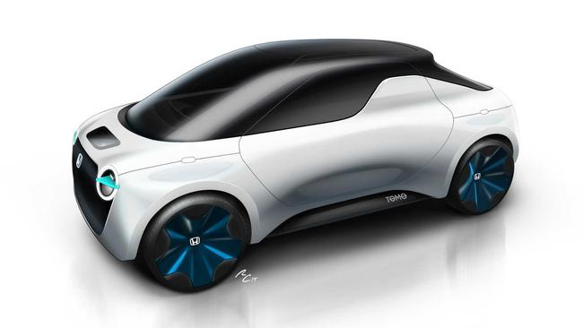 Based on Honda's Urban EV hatchback, the Tomo features electric power.