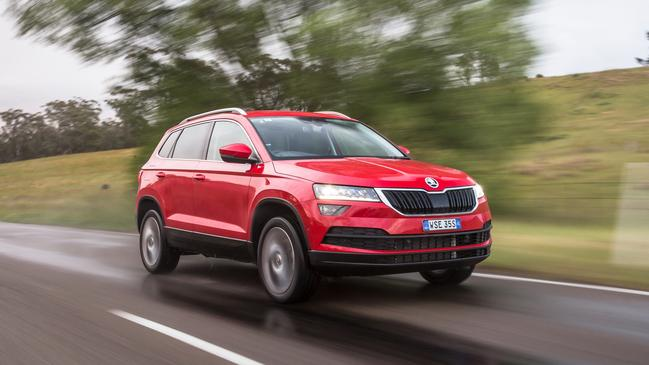 A smart interior and cracking engine were the Skoda's strong points. Photo: Thomas Wielecki.