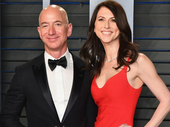Jeff Bezos' divorce from wife MacKenzie Bezos has cost him a lot of money. Picture: Getty