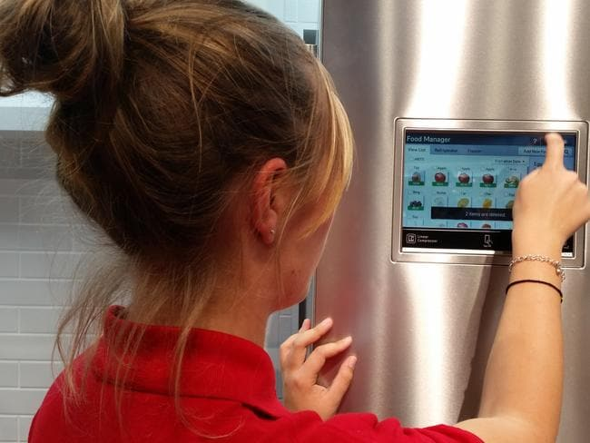 Smart appliances ... The fridge of the future will add items to an automatic shopping list as soon as they are removed it from the shelves.
