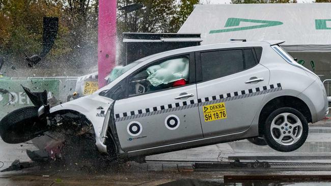 The crash test was performed at much higher speeds than the Australian crash tests.