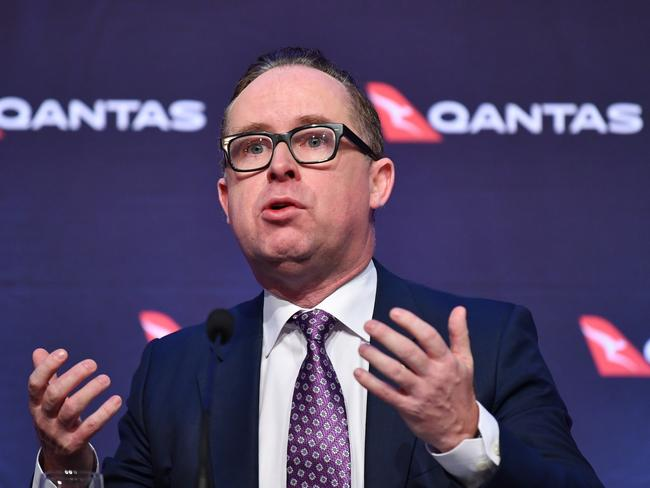Qantas CEO Alan Joyce will speak at the National Press Club along with his Virgin counterpart. Picture: Dean Lewins/AAP