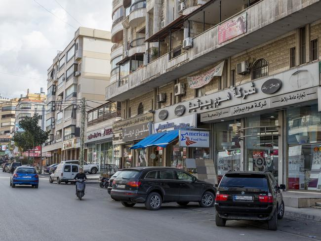 Sainte Therese Road in Beirut where Sally Faulkner attempted to kidnap her two children. Picture: Ella Pellegrini