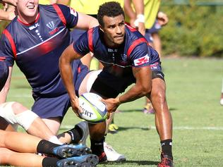Melbourne Rebels recruit Will Genia at training. Picture: Chris Gottaas