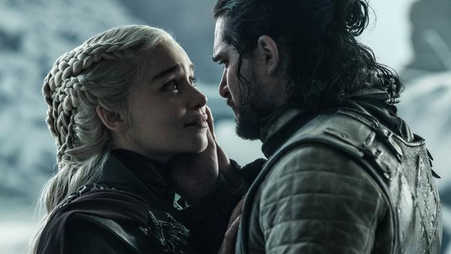 Emilia Clarke was killed off by her lover in the finale. Picture: HBO/ Supplied