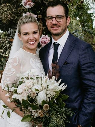 Edwina Bartholomew and husband Neil Varcoe tied the knot last April. Picture: Edwina Robertson