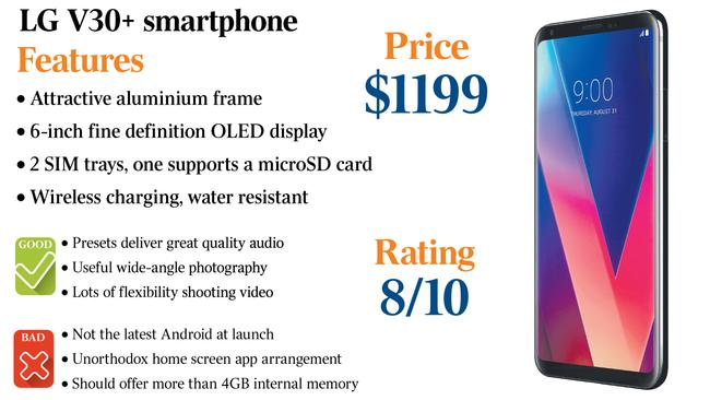 Camera, sound quality set LG's V30+ apart from the pack