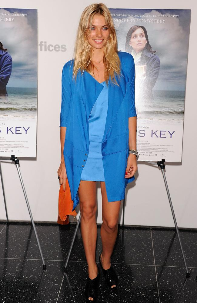 """Model Jessica Hart attends the premiere of """"Sarah's Key"""" at the Celeste Bartos Theater at the Museum of Modern Art on July 11, 2011 in New York City. (Photo by Andrew H. Walker/Getty Images)"""
