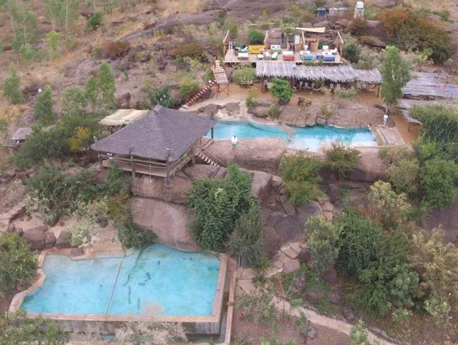 Aerial view of Le Campement luxury resort in Mali. Picture: Supplied