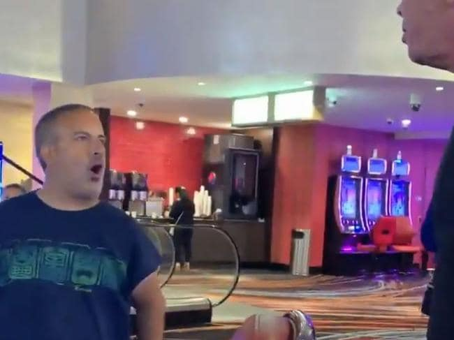 Morgan claimed the women in the video asked him to come to the casino. Picture: babykimk/Twitter