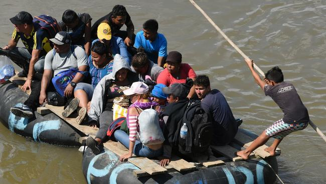 Many of the migrants are fleeing Honduras, but thousands have joined them along the way. Picture: AFP