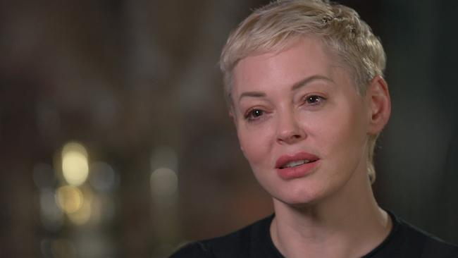 Actress Rose McGowan speaks to 60 Minutes.