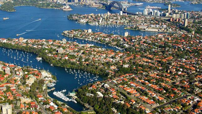 Mosman was Sydney's most popular auction market last year, but today there are just two auctions in the suburb. Picture: airviewonline.com.au