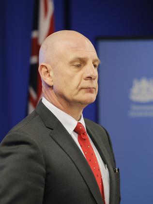 Peter Gutwein announces his decision to sack the Glenorchy City Council. Picture: MATHEW FARRELL