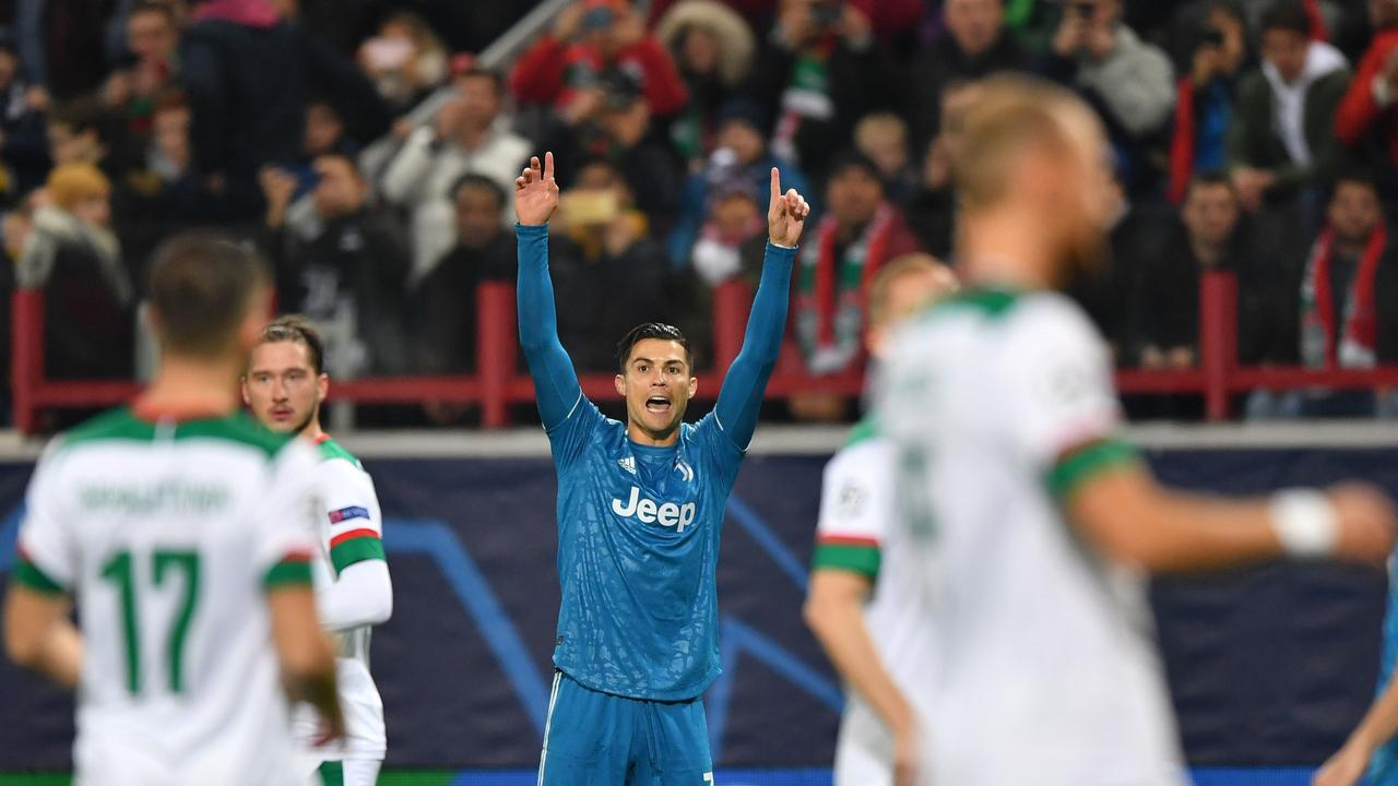 Ronaldo thought he'd scored a record-breaking goal in the Champions League, but a teammate nicked it at the last second.