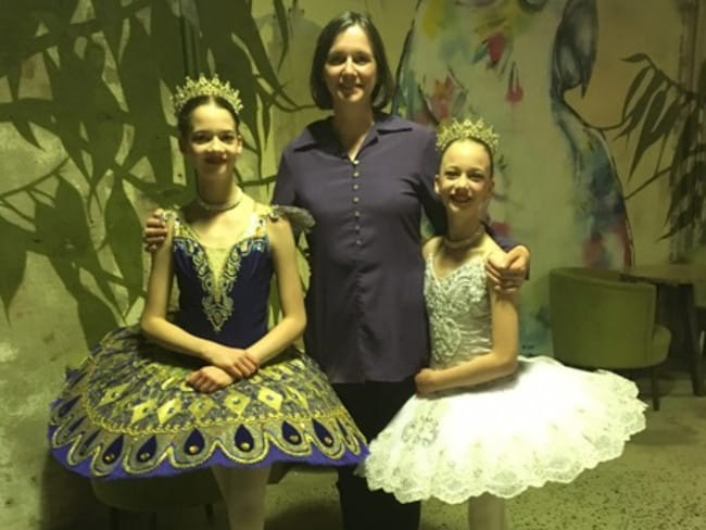 Elinor and her Bolshoi Ballet dancers.