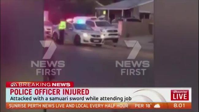 WA police officer seriously injured in Samurai sword attack to the head