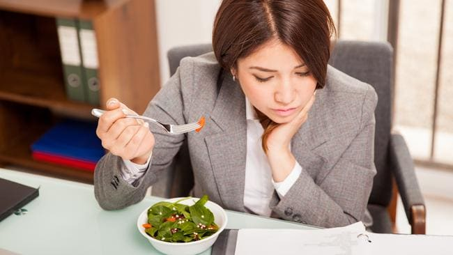Try and eat lunch away from your desk to avoid 'distracted eating' which can spill into overeating.