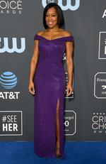 SANTA MONICA, CA - JANUARY 13: Regina King attends the 24th annual Critics' Choice Awards at Barker Hangar on January 13, 2019 in Santa Monica, California. (Photo by Frazer Harrison/Getty Images)
