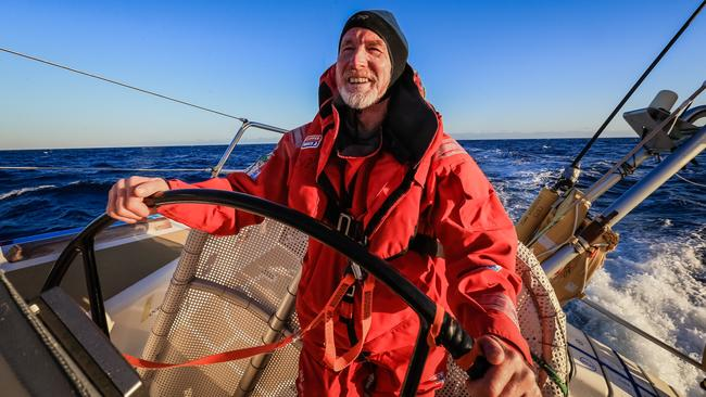 David Graney, 64, from Hobart, racing aboard Da Nang Vietnam during the Rolex Sydney Hobart yacht race, skippered by Australian Wendy Tuck. Picture: Craig Greenhill/Daily Telegraph.