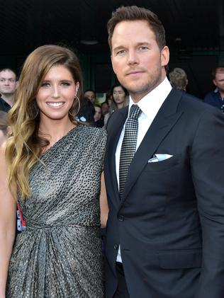 The fires are blowing close to Chris Pratt and Katherine Schwarzenegger's under-construction mansion. Picture: Getty Images