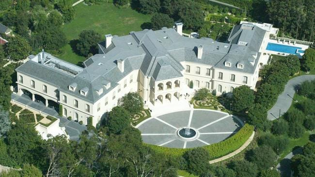 The Manor is the largest home in Los Angeles County. Picture: Splash News